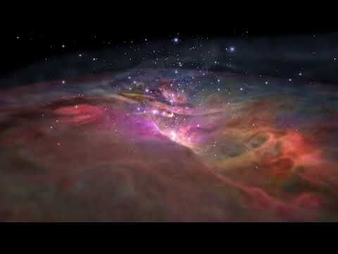 Flight_Through_Orion_Nebula_in_Visible_and_Infrared_Light