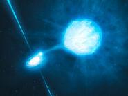 Artist's impression of the black hole inside NGC 300 X-1 (ESO 1004a)