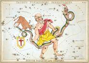 Sidney Hall - Urania's Mirror - Taurus Poniatowski, Serpentarius, Scutum Sobiesky, and Serpens