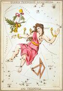 Sidney Hall - Urania's Mirror - Gloria Frederici, Andromeda, and Triangula