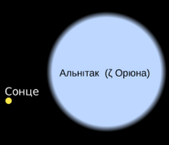 Alnitak sun comparision-uk