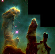 Eagle nebula pillars