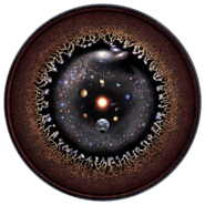 Observable universe logarithmic illustration