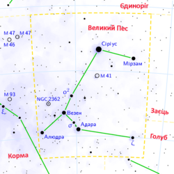 Canis major constellation map ukr.png