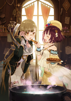 Atelier Sophie- Sophie and Monica feeding