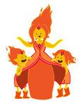 Flame princess and flame princes by kickmeplease-d5i3rkz
