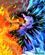 Flame princess vs ice queen by yamino-d4q3c0l