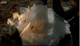 Burning dress
