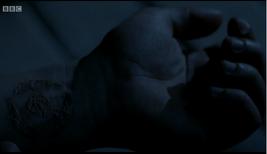 Jason's marked wrist