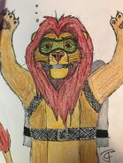 Mufasa in scuba gear by threeohj dbu5gci-fullview