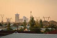 Lusaka (Zambia) at dusk.