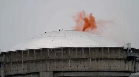 Deutscher wirft Rauchbombe über Akw ab