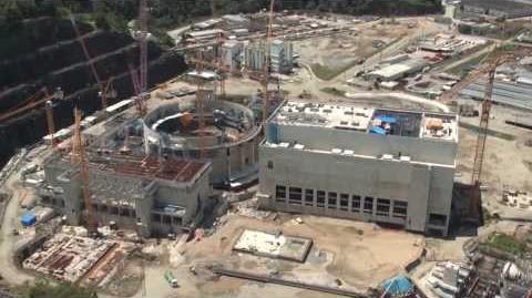 Flyover of Angra 3 NPP construction site