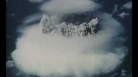 Atombombenversuch 1952 im Bikini Atoll