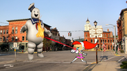 Betty vs. the Stay Puft Marshmallow Man