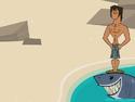 TDI Justin portato a riva da squali