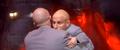 Dr. Evil and Mini-Me Hug