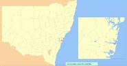 Blank NSW LGA Map