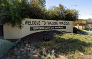 Welcome to Wagga Wagga sign
