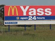 Yass McDonald's sign