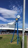 Rotary dolphin clock and Promenade Plaza
