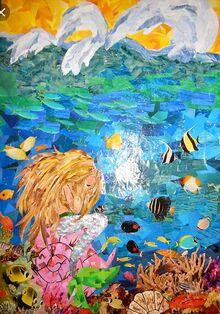 """A Mermaid in the Sea"" by Autistic boy, Grant..jpg"