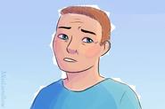 Confused Autistic Man