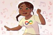Cute Girl in Autism Neurodiversity Shirt by MissLunaRose