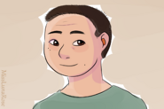 Man with Earplugs by MissLunaRose