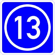Knoten 13 blau