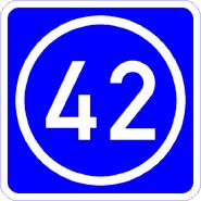 Knoten 42 blau