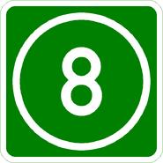 Knoten 8 grün