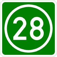 Knoten 28 grün