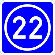 Knoten 22 blau