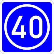 Knoten 40 blau