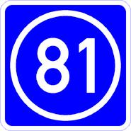 Knoten 81 blau