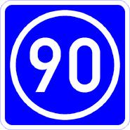 Knoten 90 blau