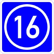 Knoten 16 blau