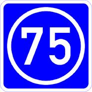 Knoten 75 blau