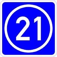 Knoten 21 blau