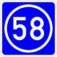 Knoten 58 blau