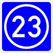 Knoten 23 blau