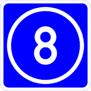 Knoten 8 blau