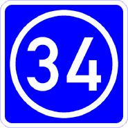 Knoten 34 blau