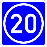 Knoten 20 blau