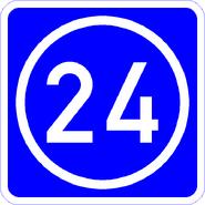 Knoten 24 blau