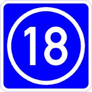 Knoten 18 blau