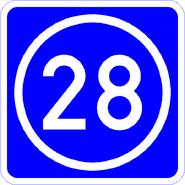 Knoten 28 blau
