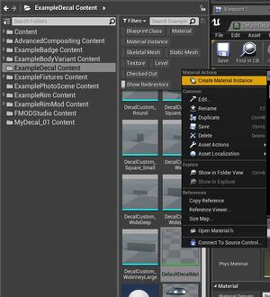 Create material instance for decals.jpg