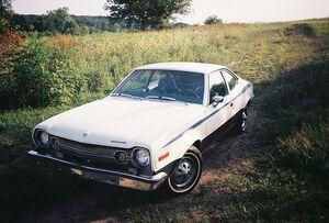 800px-1973 AMC American Motors hornet 258 2 door hatchback fastback Beast.jpg